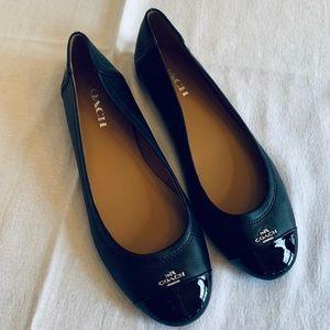 Coach Black Chelsea Ballet Flats